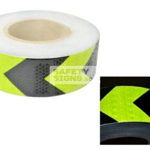 Diamond Tape Printed - Fluorescent Yellow / Black