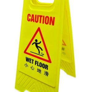 (wet floor) plastic a stand