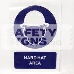 Hard Hat Area. ALUMINUM