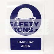 Hard Hat Area. ALUMINUM