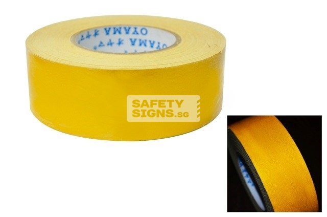 Reflective Tape Solid - Yellow