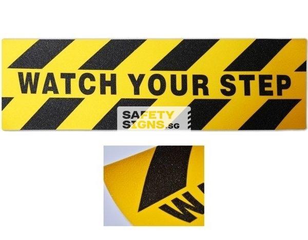 watch your step . anti slip sticker