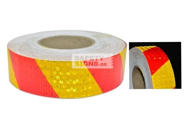 Diamond Tape Printed - Red / Yellow
